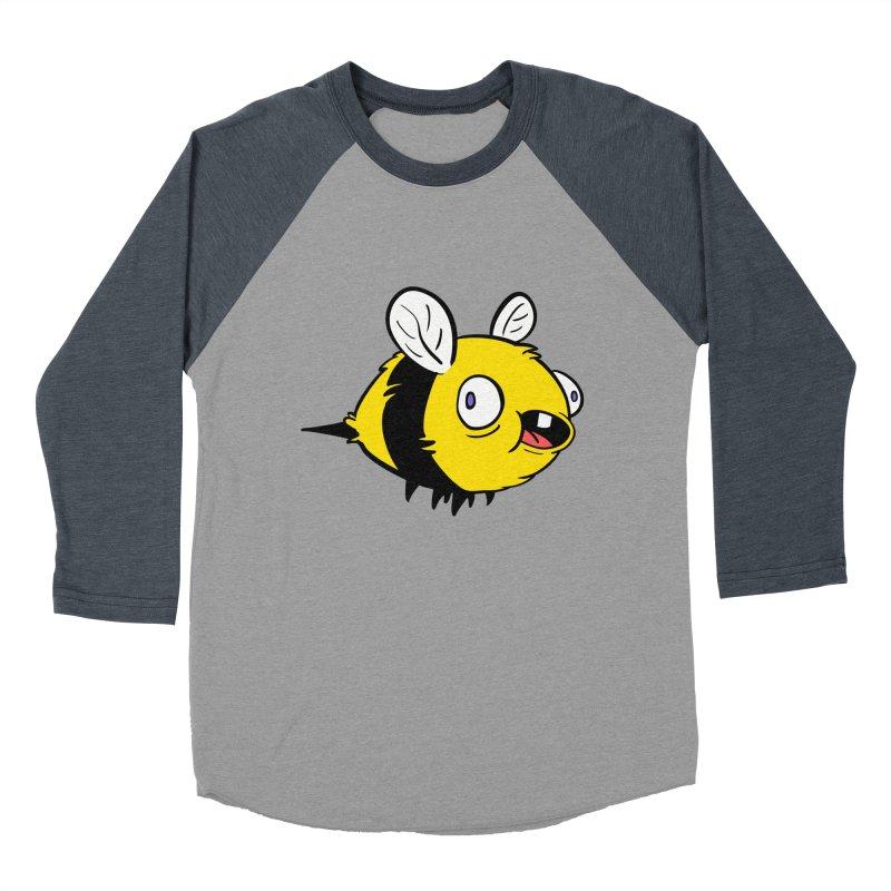Derpy Bee Women's Baseball Triblend Longsleeve T-Shirt by Kodi Sershon