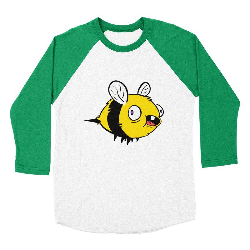 Derpy Bee Men's Baseball Triblend Longsleeve T-Shirt by Kodi Sershon