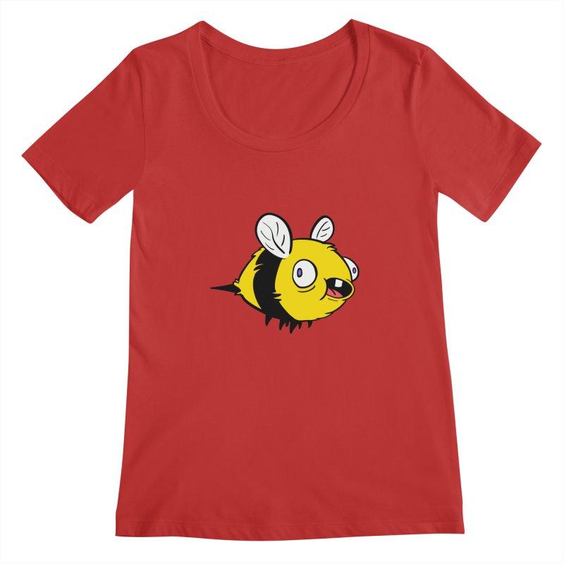 Derpy Bee Women's Regular Scoop Neck by Kodi Sershon