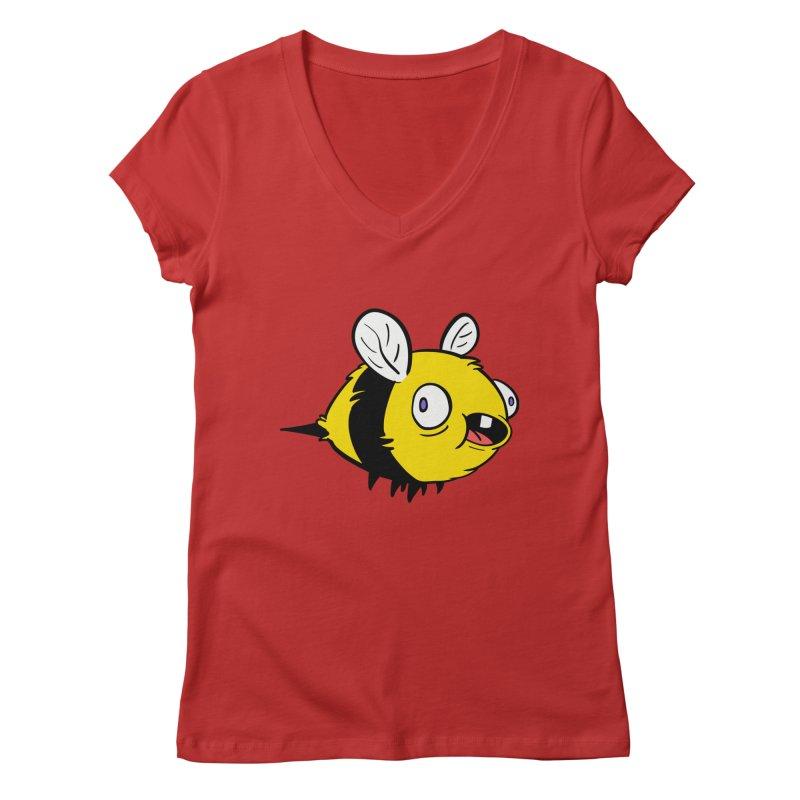 Derpy Bee Women's Regular V-Neck by Kodi Sershon