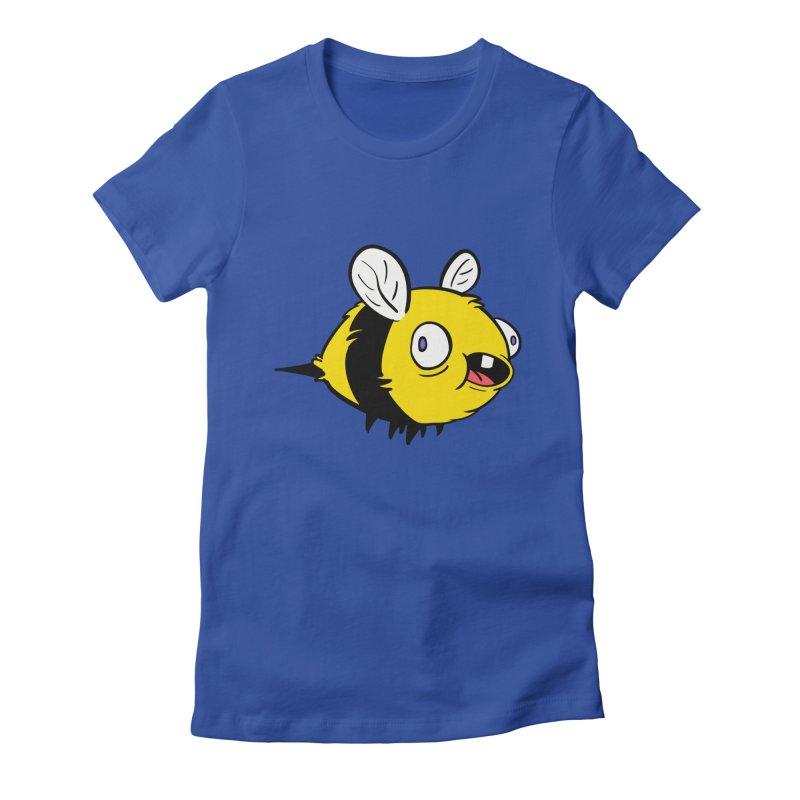 Derpy Bee Women's Fitted T-Shirt by Kodi Sershon