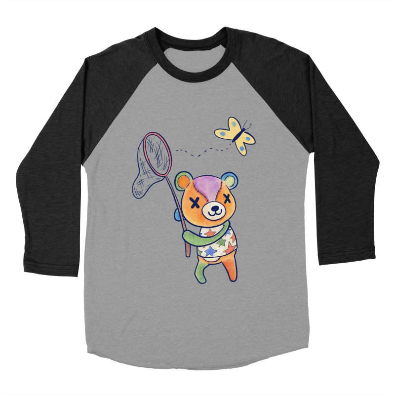 Stitches Men's Baseball Triblend Longsleeve T-Shirt by Kodi Sershon