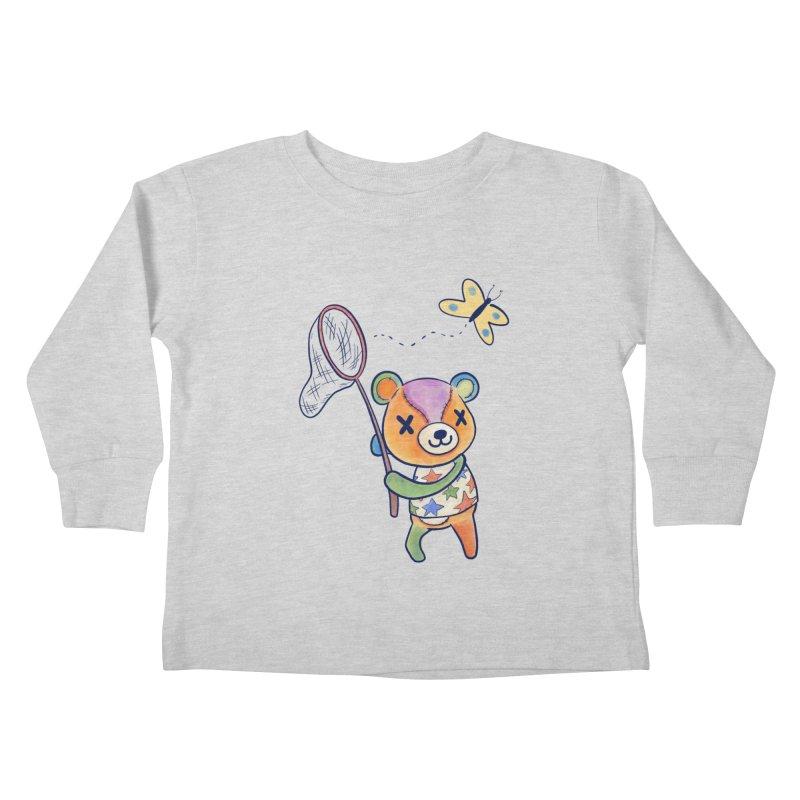 Stitches Kids Toddler Longsleeve T-Shirt by Kodi Sershon