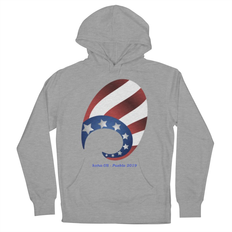 koha-US 2019 conference shirts and accessories in Men's French Terry Pullover Hoody Heather Graphite by kohaus's Artist Shop