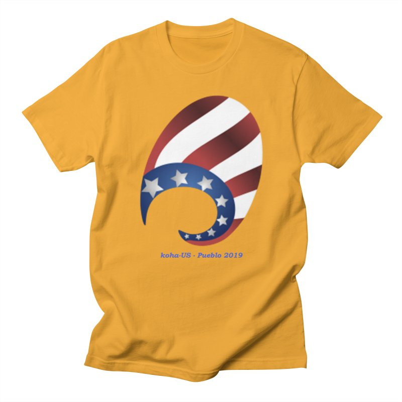 koha-US 2019 conference shirts and accessories in Men's Regular T-Shirt Gold by kohaus's Artist Shop