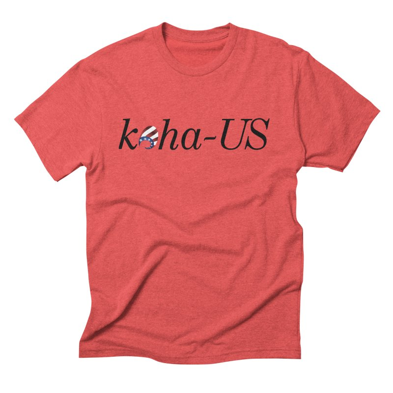 Logo in Men's Triblend T-Shirt Chili Red by kohaus's Artist Shop