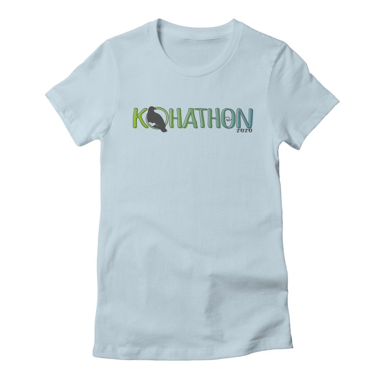 Kohathon20 Logo in Women's Fitted T-Shirt Baby Blue by kohaus's Artist Shop