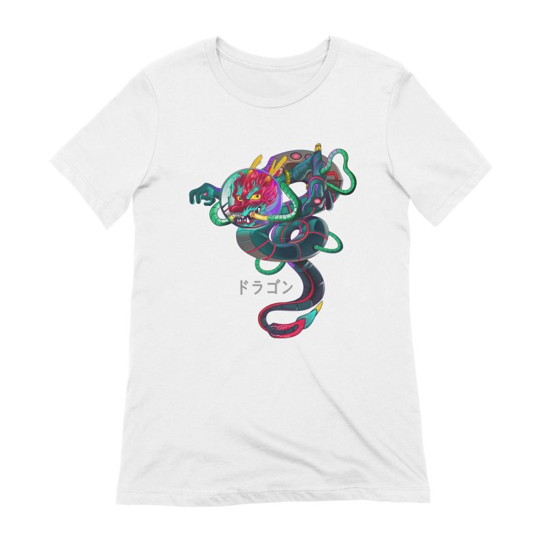 Dragon in space Women's Extra Soft T-Shirt by koi's Artist Shop