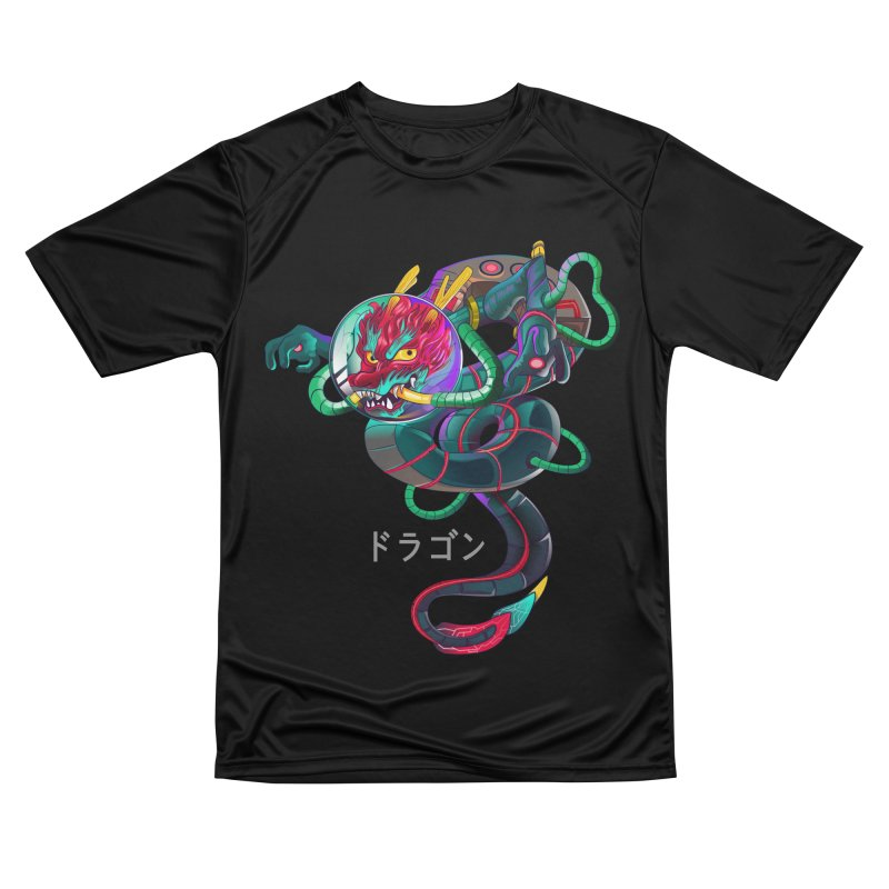 Dragon in space Men's Performance T-Shirt by koi's Artist Shop