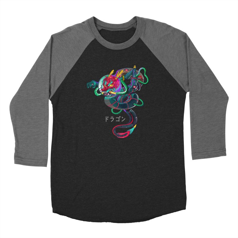 Dragon in space Men's Baseball Triblend Longsleeve T-Shirt by koi's Artist Shop