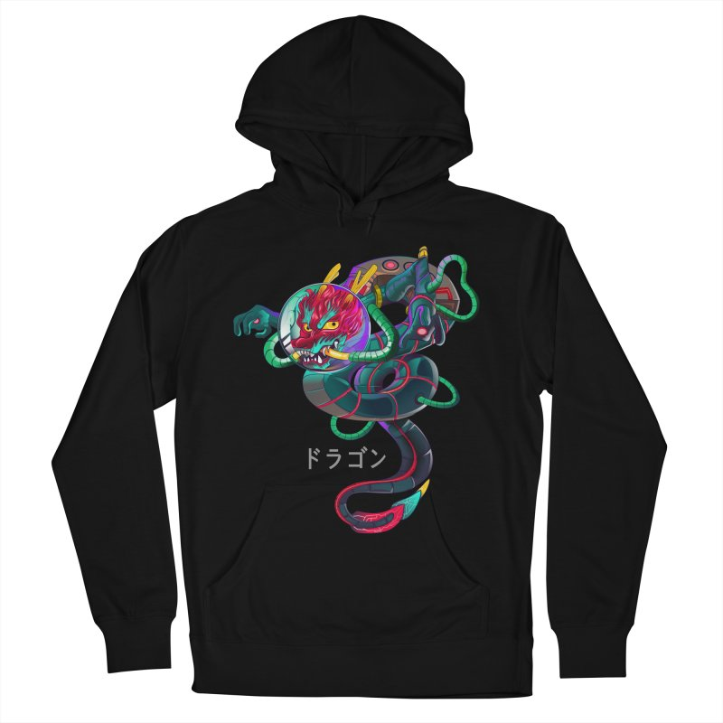 Dragon in space Women's French Terry Pullover Hoody by koi's Artist Shop