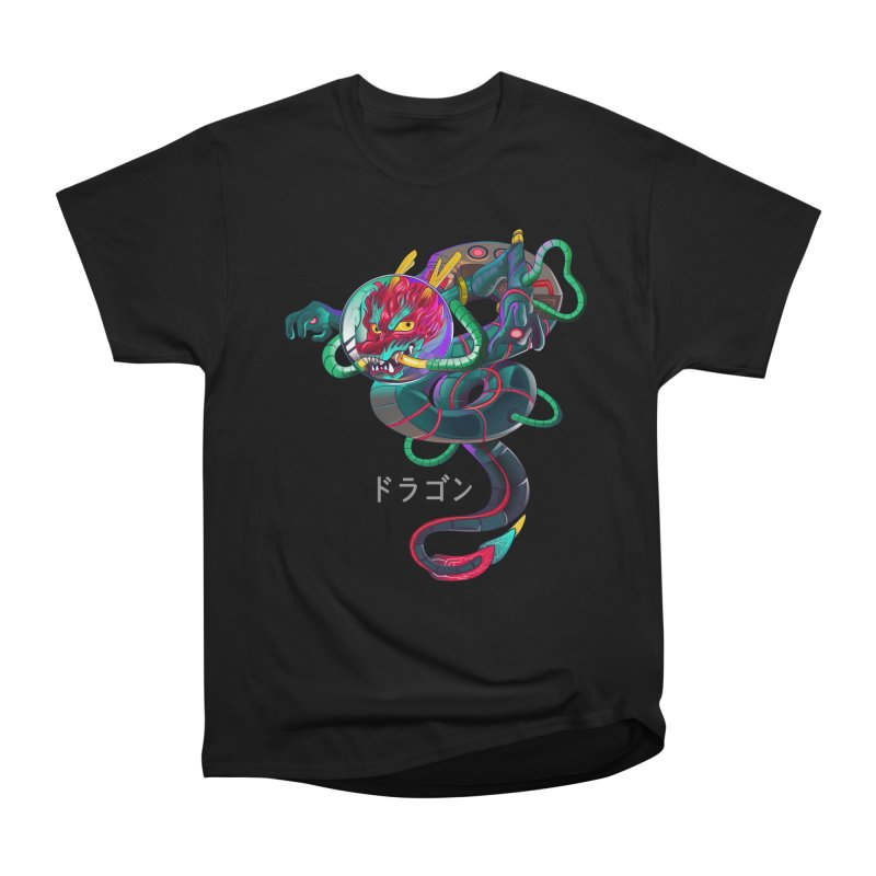 Dragon in space Men's Heavyweight T-Shirt by koi's Artist Shop