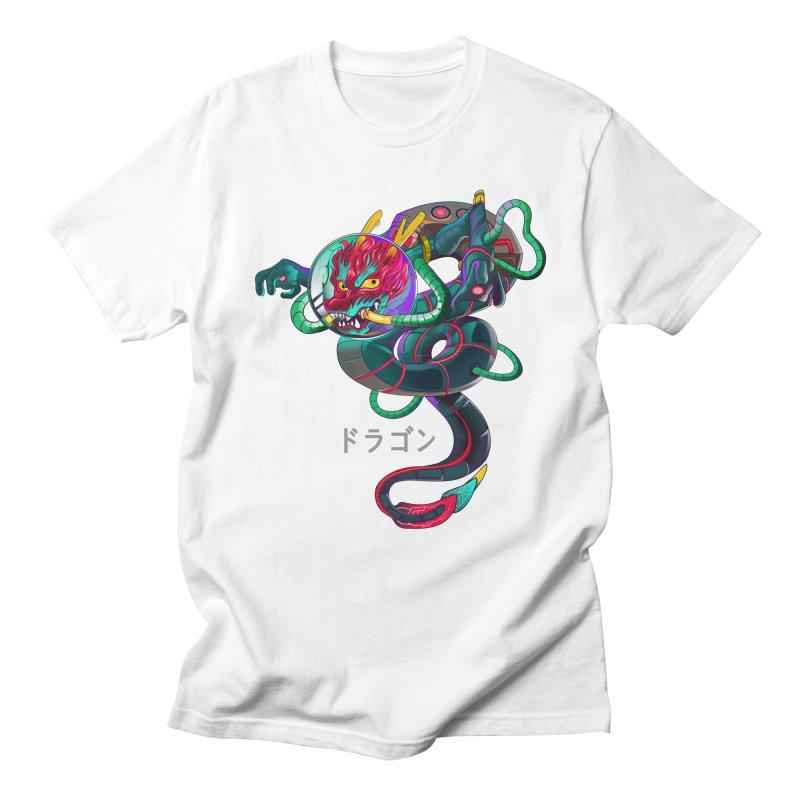 Dragon in space Men's Regular T-Shirt by koi's Artist Shop