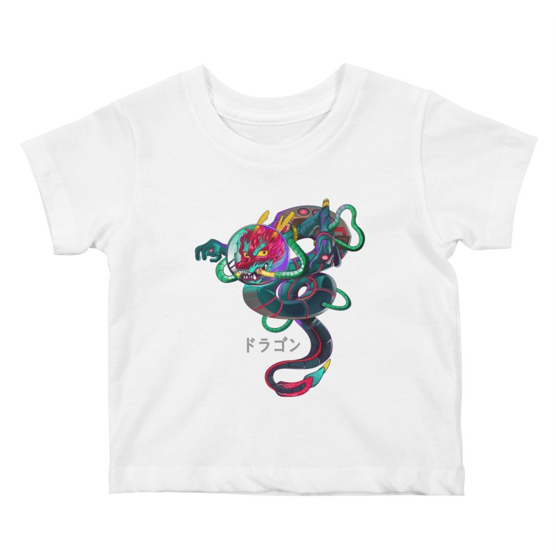Dragon in space Kids Baby T-Shirt by koi's Artist Shop