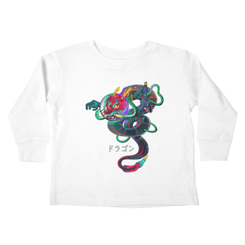 Dragon in space Kids Toddler Longsleeve T-Shirt by koi's Artist Shop