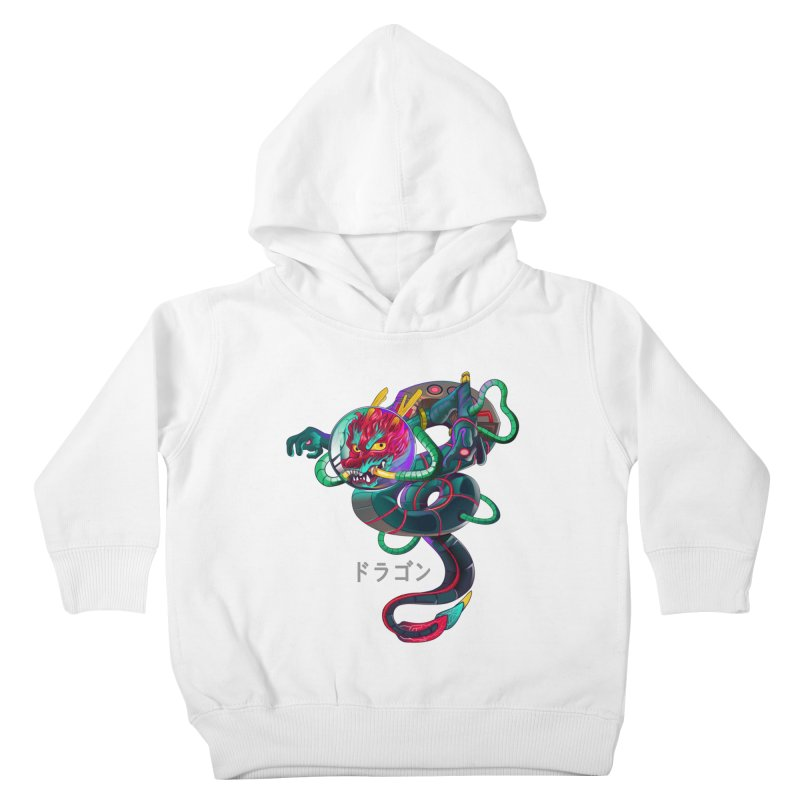 Dragon in space Kids Toddler Pullover Hoody by koi's Artist Shop