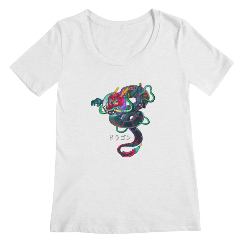 Dragon in space Women's Regular Scoop Neck by koi's Artist Shop