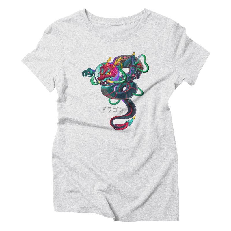 Dragon in space Women's Triblend T-Shirt by koi's Artist Shop