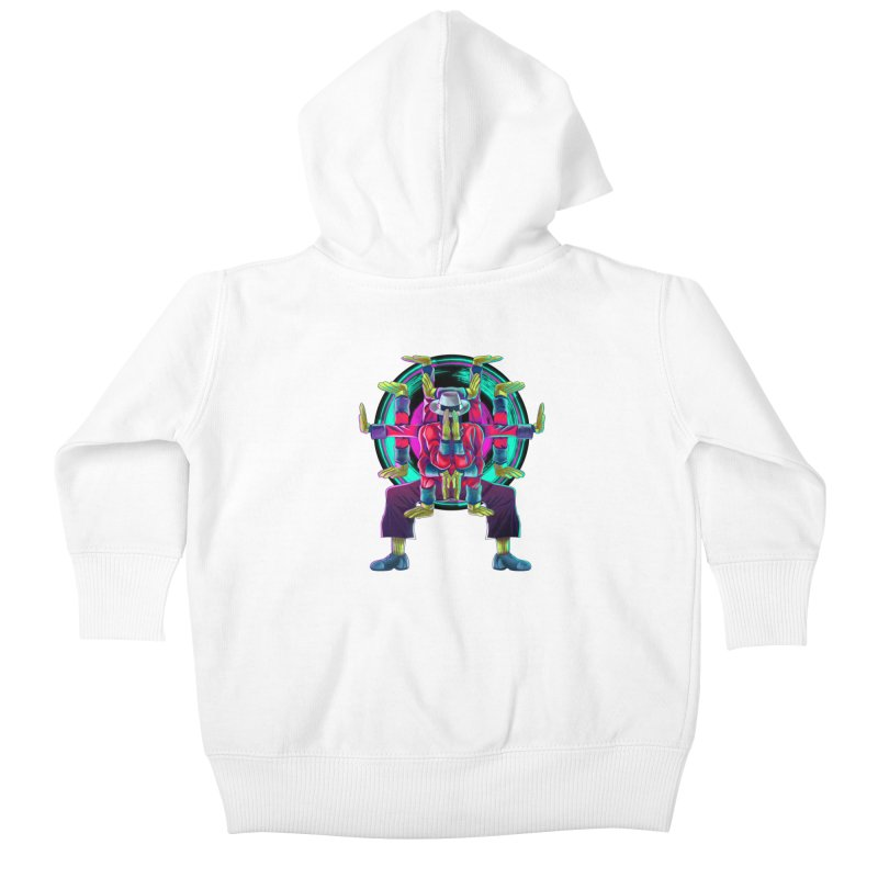 Tut Diagram Kids Baby Zip-Up Hoody by koi's Artist Shop