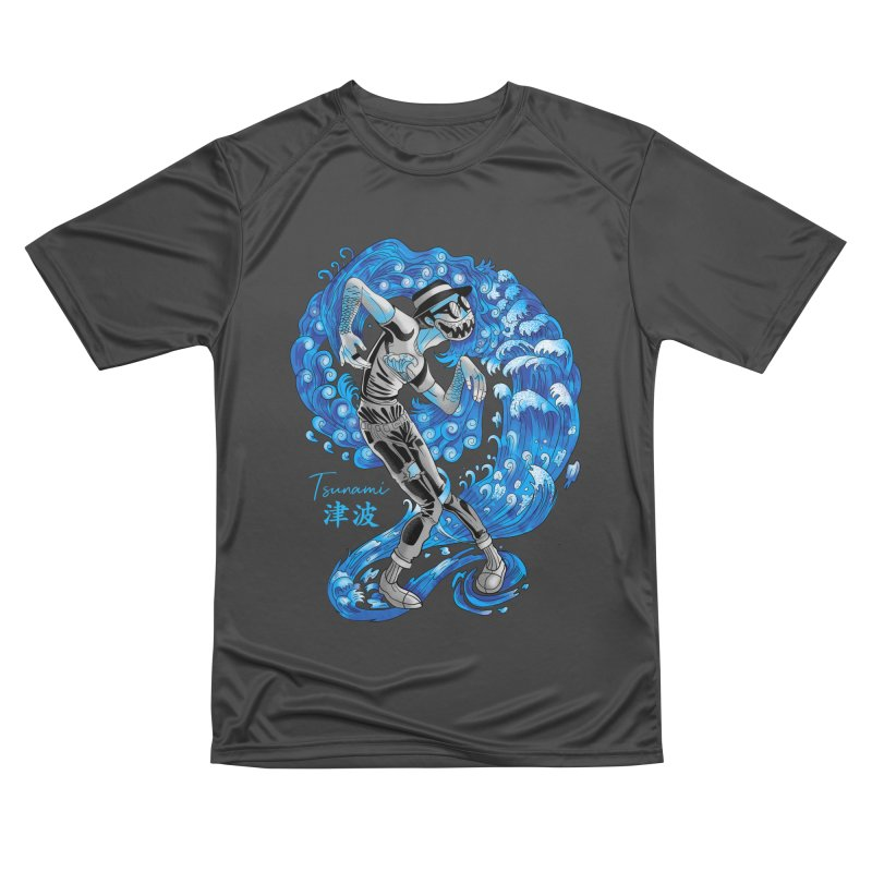 Wave Tsunami Men's Performance T-Shirt by koi's Artist Shop