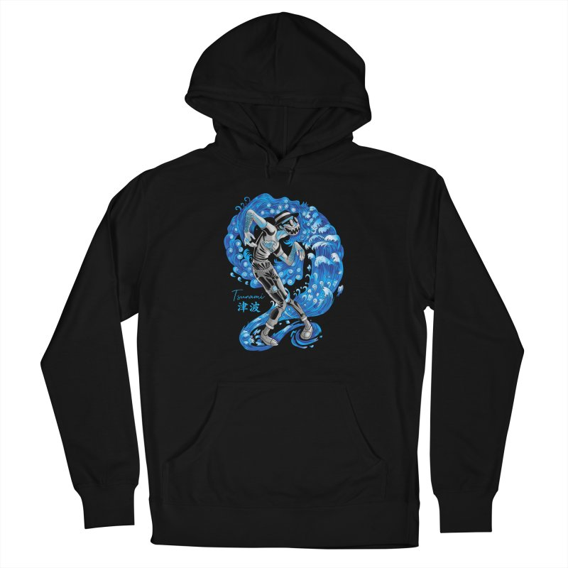 Wave Tsunami Men's French Terry Pullover Hoody by koi's Artist Shop