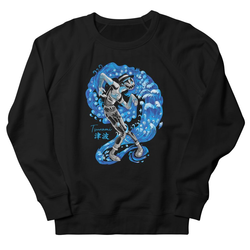 Wave Tsunami Men's French Terry Sweatshirt by koi's Artist Shop