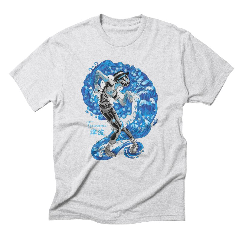 Wave Tsunami Men's Triblend T-Shirt by koi's Artist Shop