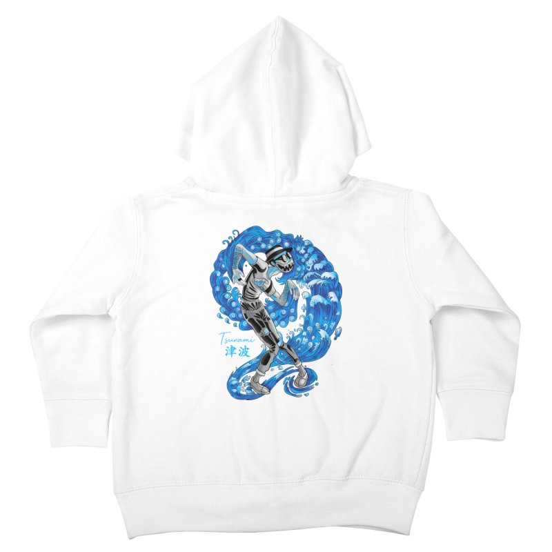 Wave Tsunami Kids Toddler Zip-Up Hoody by koi's Artist Shop
