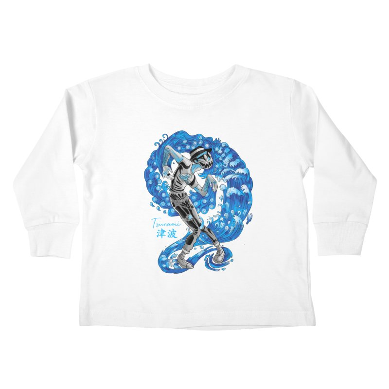 Wave Tsunami Kids Toddler Longsleeve T-Shirt by koi's Artist Shop