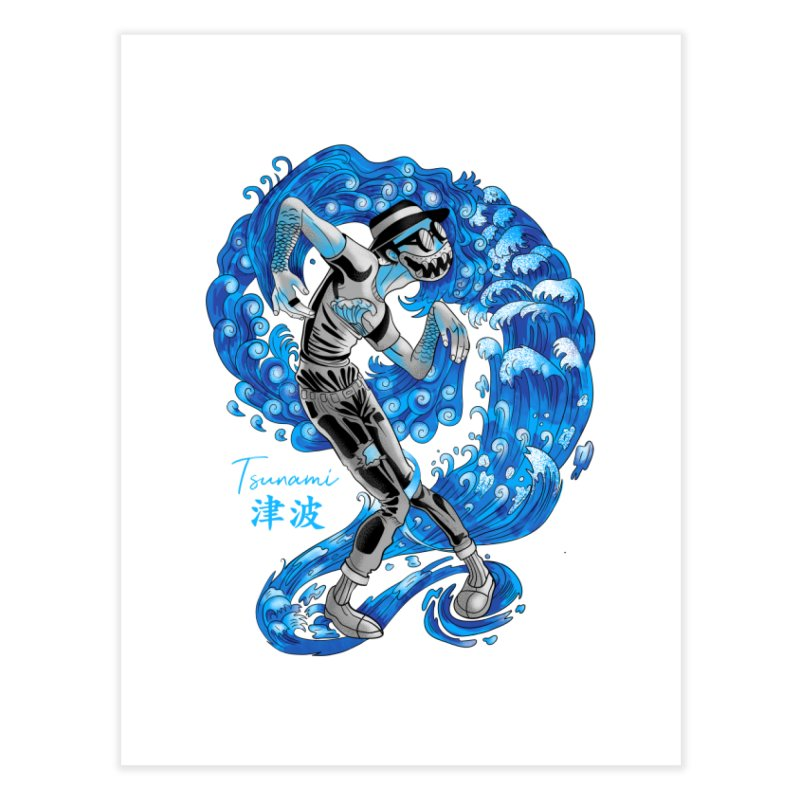 Wave Tsunami Home Fine Art Print by koi's Artist Shop