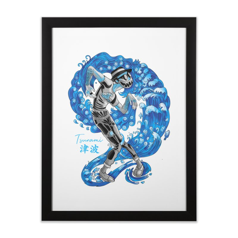 Wave Tsunami Home Framed Fine Art Print by koi's Artist Shop