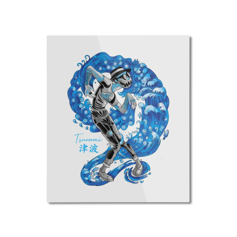 Wave Tsunami Home Mounted Aluminum Print by koi's Artist Shop