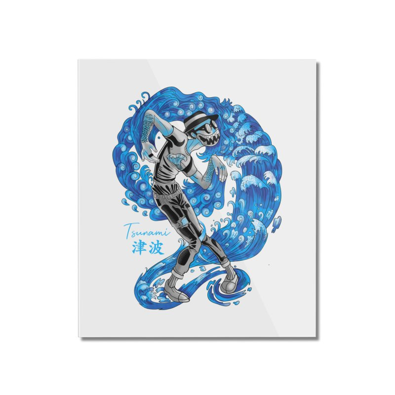 Wave Tsunami Home Mounted Acrylic Print by koi's Artist Shop