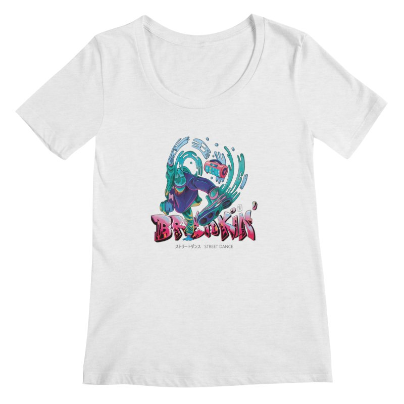 Breakin Women's Regular Scoop Neck by koi's Artist Shop