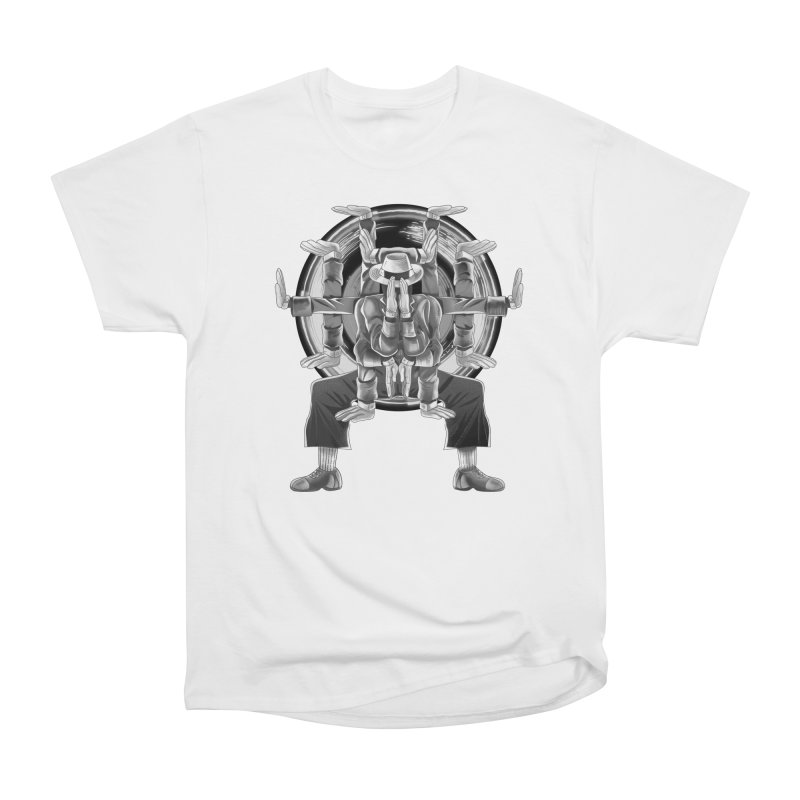 Tut Diagram black and white Women's Heavyweight Unisex T-Shirt by koi's Artist Shop