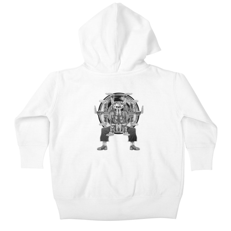 Tut Diagram black and white Kids Baby Zip-Up Hoody by koi's Artist Shop