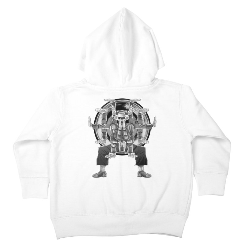 Tut Diagram black and white Kids Toddler Zip-Up Hoody by koi's Artist Shop