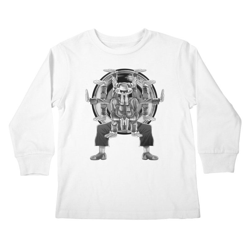 Tut Diagram black and white Kids Longsleeve T-Shirt by koi's Artist Shop