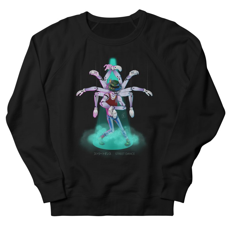 Puppet Diagram - Green Women's French Terry Sweatshirt by koi's Artist Shop