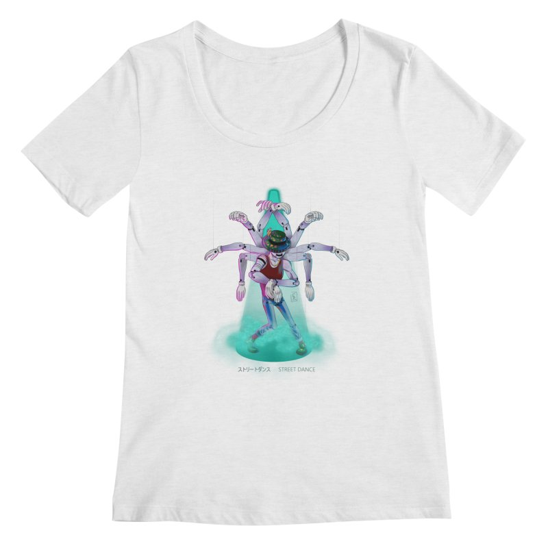 Puppet Diagram - Green Women's Regular Scoop Neck by koi's Artist Shop