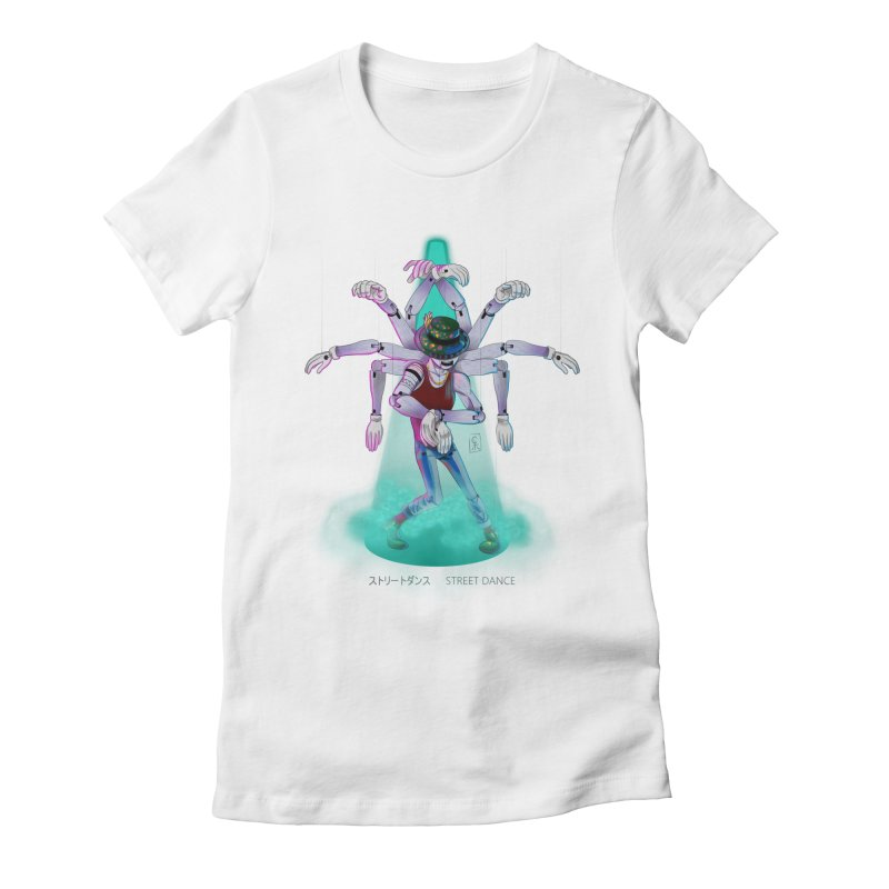 Puppet Diagram - Green Women's Fitted T-Shirt by koi's Artist Shop