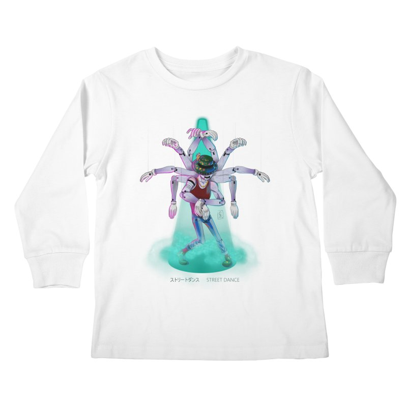 Puppet Diagram - Green Kids Longsleeve T-Shirt by koi's Artist Shop