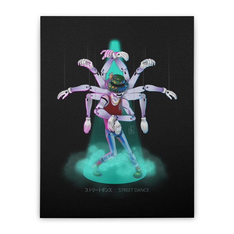Puppet Diagram - Green Home Stretched Canvas by koi's Artist Shop