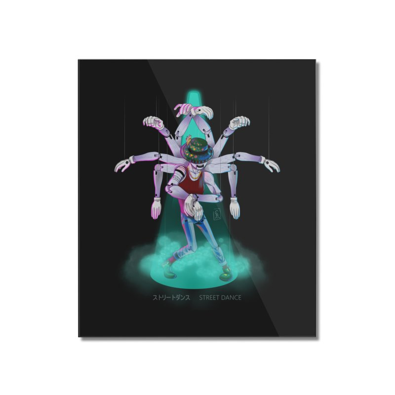 Puppet Diagram - Green Home Mounted Acrylic Print by koi's Artist Shop
