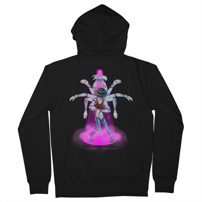 Puppet Diagram - Pink Men's French Terry Zip-Up Hoody by koi's Artist Shop