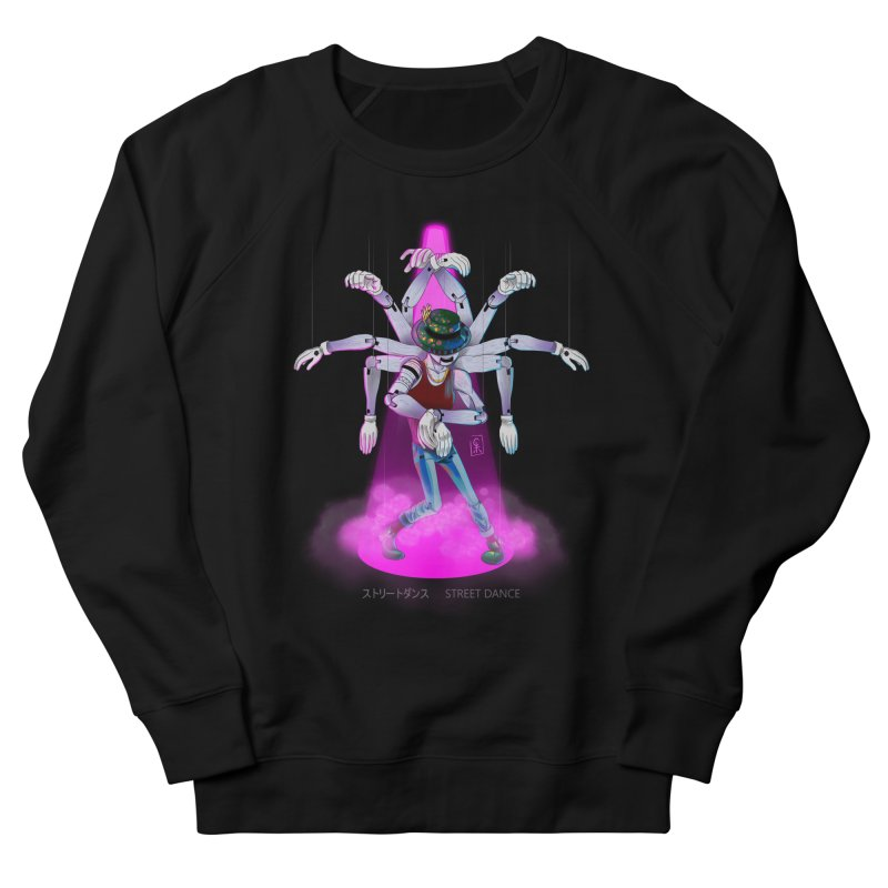 Puppet Diagram - Pink Men's French Terry Sweatshirt by koi's Artist Shop