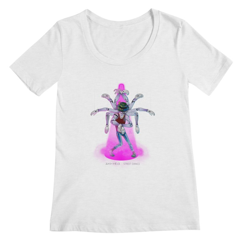 Puppet Diagram - Pink Women's Regular Scoop Neck by koi's Artist Shop