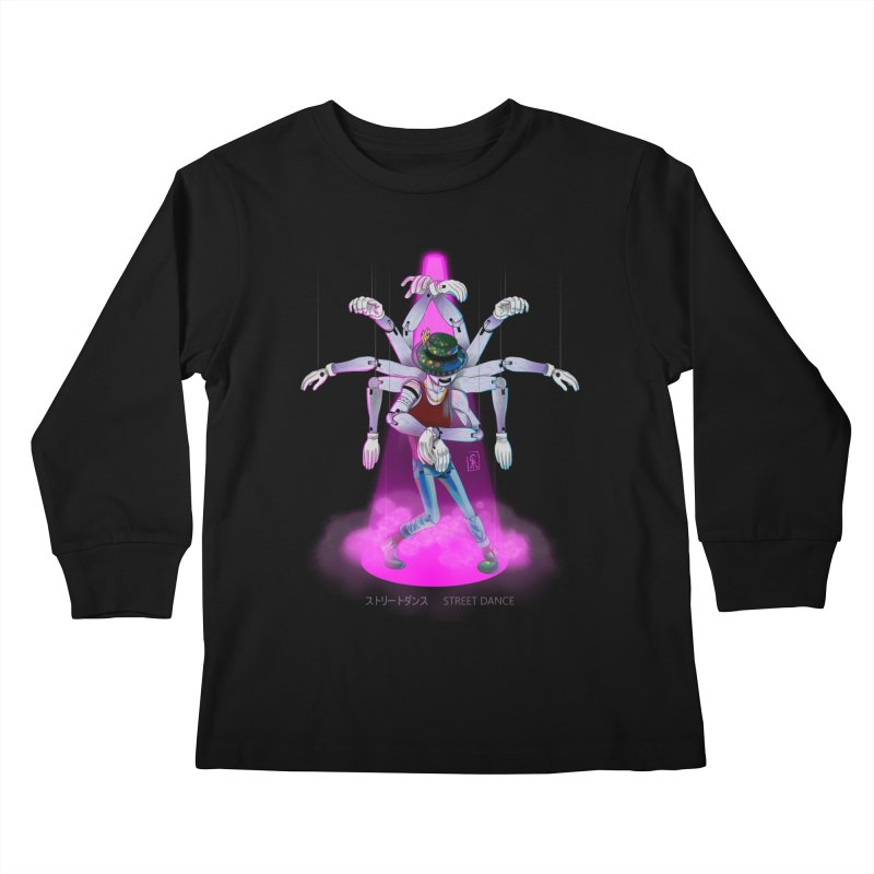 Puppet Diagram - Pink Kids Longsleeve T-Shirt by koi's Artist Shop