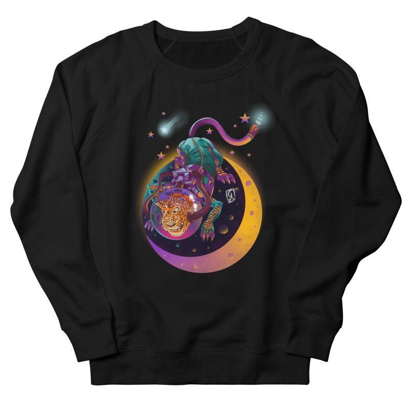 Moon Tiger Men's French Terry Sweatshirt by koi's Artist Shop