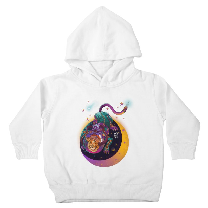 Moon Tiger Kids Toddler Pullover Hoody by koi's Artist Shop